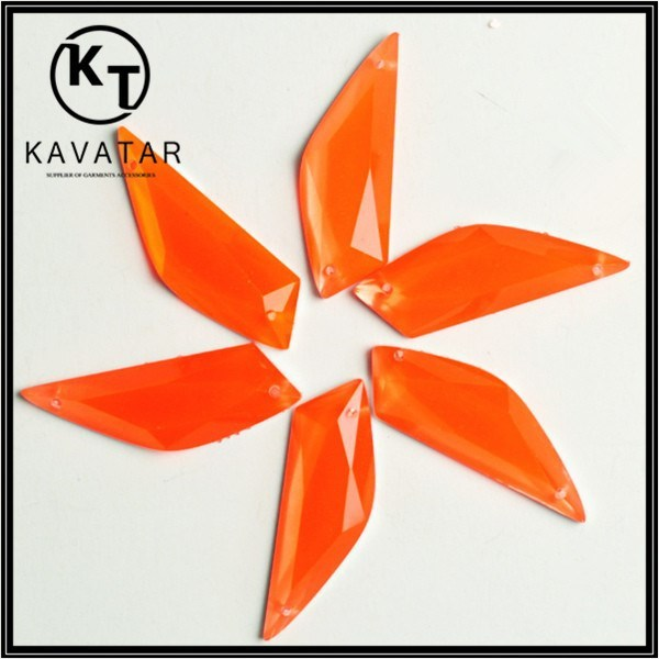2015 hot sale orange resin rhinestones bead