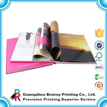 A4 Hardcover Book Luxury Laminated Fashion Design Books Produced