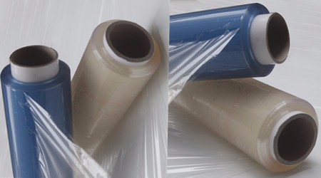 roller high transparent stretch pvc film for electronics wrap