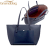 High quality saffiano leather bulk Plain full grain leather tote bag fashion traval bag larger capacity handbag