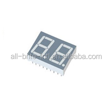 0.36 inch Dual Digit Blue LED Display 7 segment common anode
