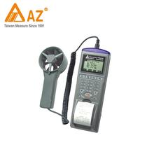 9871 AZ measuring instrument air flow wind speed meter data logger with printer