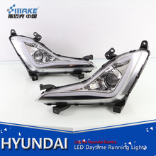 New design Hyundai elantra 2014-2016 led daytime running light, led drl with lens for elantra fog lamp