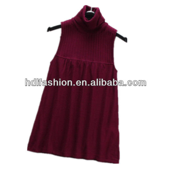 Ladies knit wear sleeveless dress winter sweater