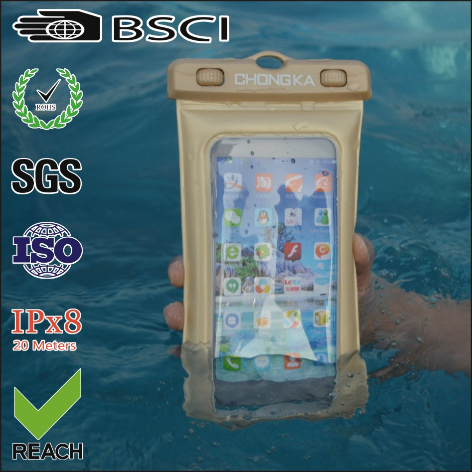 PVC promotional waterproof phone case for iphone