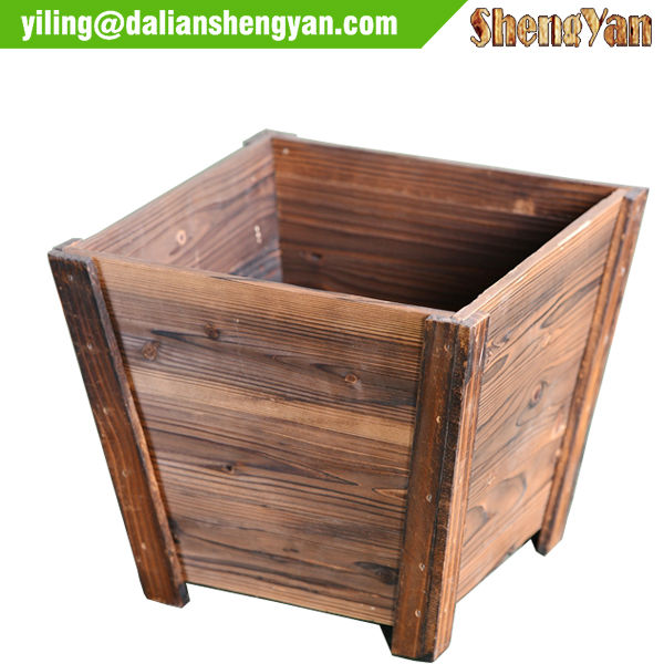 Flower wood planter boxes garden split planter pot buy for Gros pot fleur exterieur