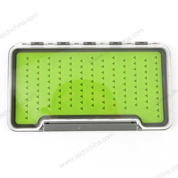 clear view slim silicone foam Fly fishing Box