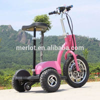 New design three wheeler standing up electric battery operated two wheel vehicle for sale with big front tire