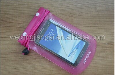 New plastic dry pouch for hand phone waterproof bag