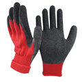 NMSAFETY 10 gauge red cold weather winter work gloves with rubber palms