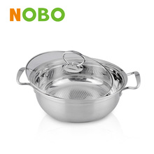 NOBO stainless steel chinese thermal pot with glass lid