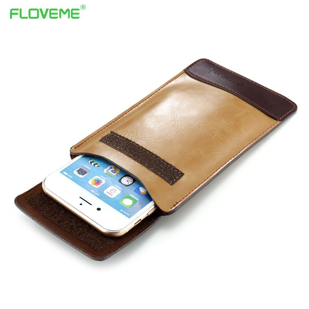 FLOVEME 4.7 Wallet Pouch Cover Pocket Bag for iPhone 6 6S 5S 5C SE Business Retro PU Leather Holster Case for Samsung A3 J1 2016