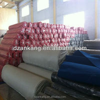 Nonwoven needle punched plain heavy latex protective film coated exhibition carpet