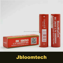 100% AW Bestkal battery for electronic cigarettes 18650 3000mah 40A high quality ecig battery red battery IMR 18650 40amp newest