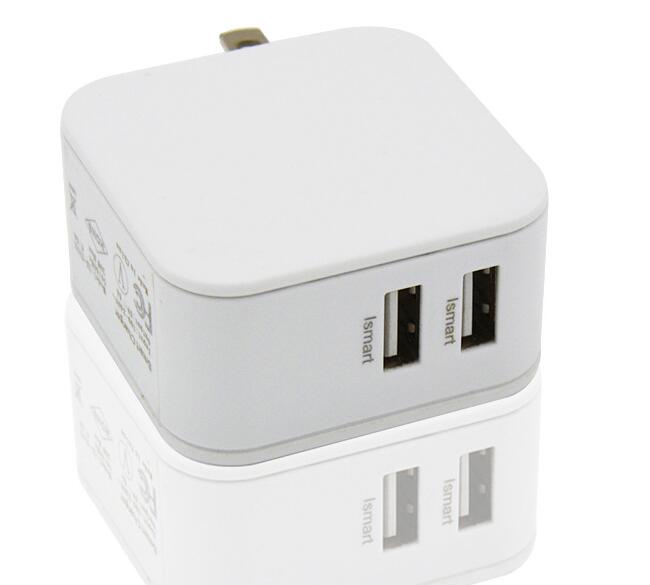 wholesale cheap 2 port usb smart charger for Iphone wall charger adapter