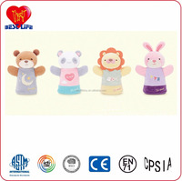HI CE Fancy high quality lion and bear plush stuffed toy cartoon character hand puppet