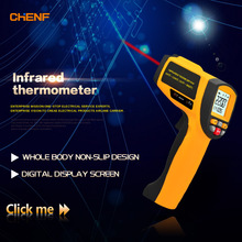 Chenf Gun Type Fast Read Handheld Non-Contact Digital Infrared Thermometer to 2000 Degree