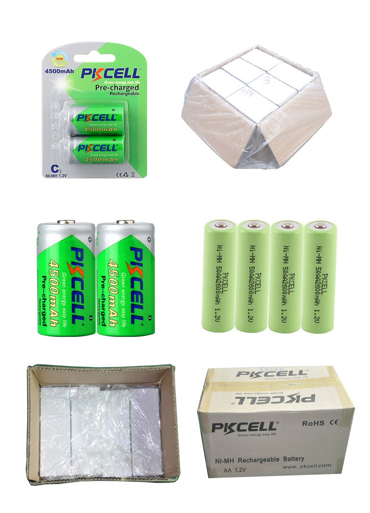 Low self discharge 1.2V NIMH Rechargeable C 4500mAh battery