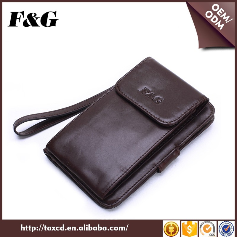 branded designer leather cell phone wallet for men
