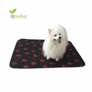 Factory Sale 100% Polyester Printed Reusable & Waterproof Puppy Training Potty Pee Pads Puppy Pads