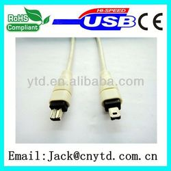 New Product for usb 2.0 to ieee1394 firewire 4 pin cable High Quality