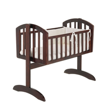 simple design wooden baby swing bed baby cot