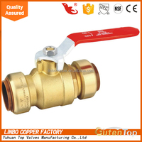 LB-Gutentop 1/4 3/8 1/2 NPT cheap brass ball valve for water air oil and gas brass ball valve factory in China