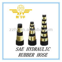 HEAVY DUTY, HIGH IMPULSE,MULTIPLE SPIRAL STEEL WIRE REINFORCED, RUBBER COVERED HYDRAULIC HOSE