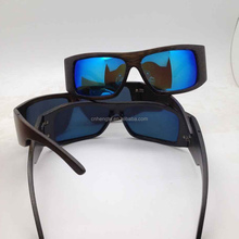 Sports bamboo glasses double hinges