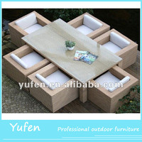 Aluminum frame synthetic rattan wicker garden furniture