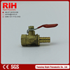 China manufacturer inside silk 1/4 3/8 1/2 inch brass water ball valve with red steel handles