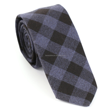 Mens Checked Wool Neck Tie