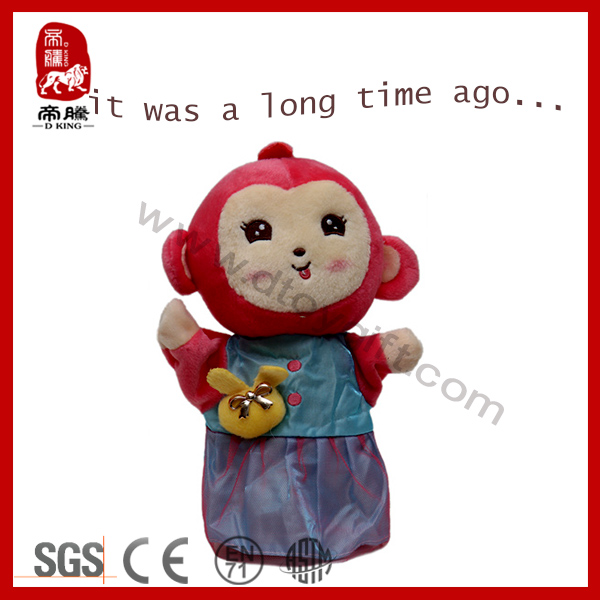2014 New arrival lovely plush toy wild animal stuffed soft monkey plush hand puppet