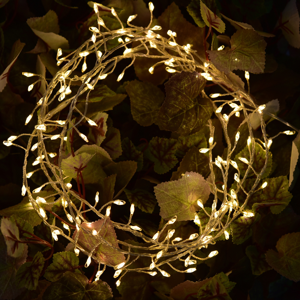 Led string lights 2M 5V USB powered outdoor Warm white/White copper wire christmas festival wedding party decoration