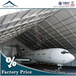 40m * 60m Aircraft Hangar / Fire Resistant And Durable Large Tents