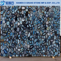 Blue Translucent Stone Panel, Agate Slabs and Countertop