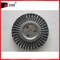 5 inch Flat Twist Circular Brush For Rust Removal