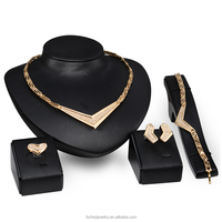 Wedding Jewelry Sets Fashion High Quality 18K Gold Filled Vintage African Style Women Luxury Elegant Design heavy SKJT0317