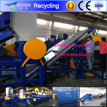 Automatic plastic hdpe recycling equipment with large capacity