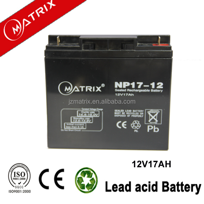 China wholesale price storage 12v 17ah battery for Wheelchair