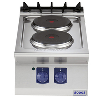 Sopas Stainless Steel Cooking ApplIance 700 series Industrial Electric Cooktop (2 round hot plates)