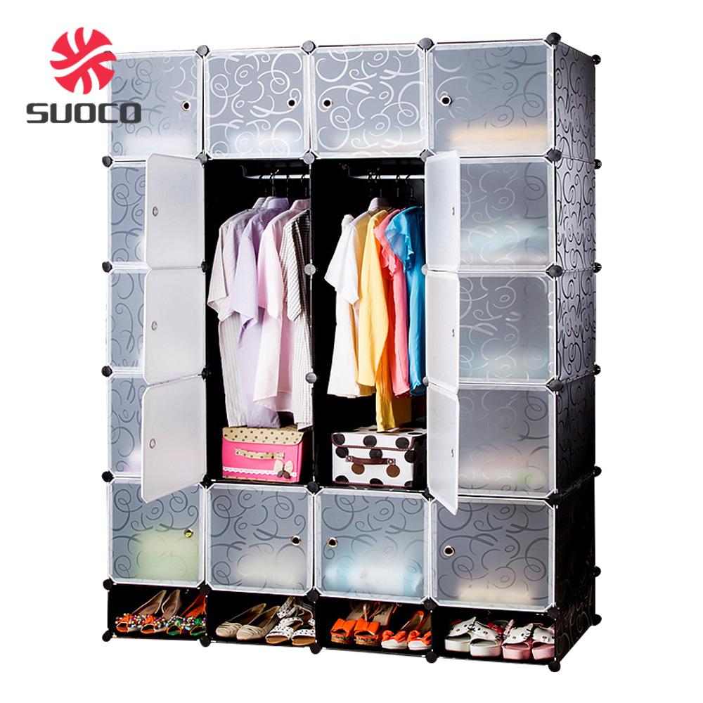 Large 20 Door Plastic Detachable Foldable U003cstrongu003eWardrobeu003c/strongu003e Armoires  Furniture