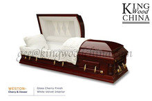 WESTON high gloss timber casket hand carved wooden casket funeral caskets prices