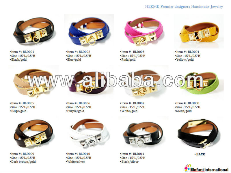14K GOLD RIVALE GENUINE LEATHER BRACELETS FOR WOMEN MEN