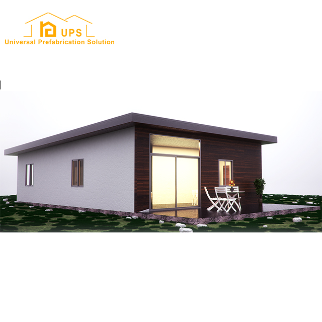 Ready made low cost prefab house flat roof small house plans