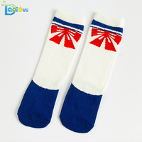 100% organic cotton tight funny knee high socks kids Christmas socks