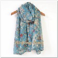 2015 hot fashion birds printed shawl cute floral animal scarf