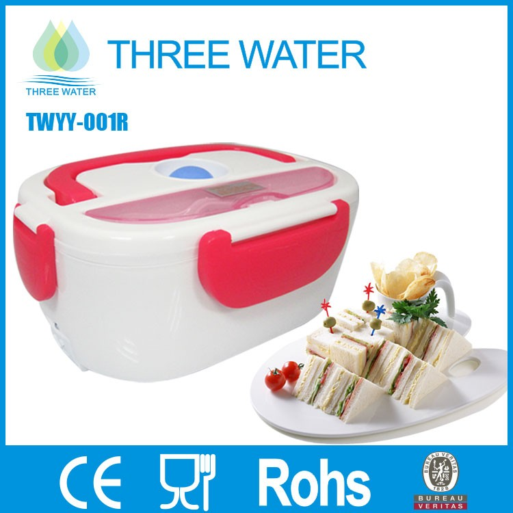 Easy carrying plastic mini electric lunch box food warmer