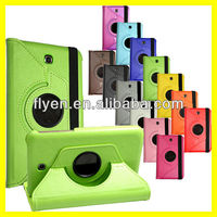 minion lichi pattern 360 degree rotating Stand Leather Case Cover for Samsung Galaxy Tab 3 7.0 P3200 green