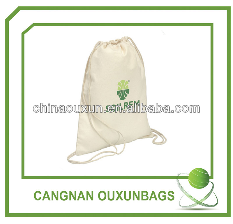 Promotion printing 8oz small fabric cotton drawstring bag wholesale